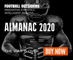 Football Outsiders Almanac 2020 Rail Banner