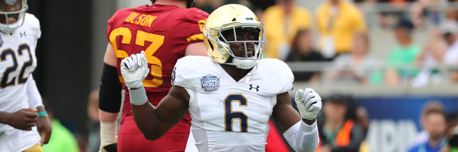 Notre Dame Fighting Irish LB Jeremiah Owusu-Koramoah