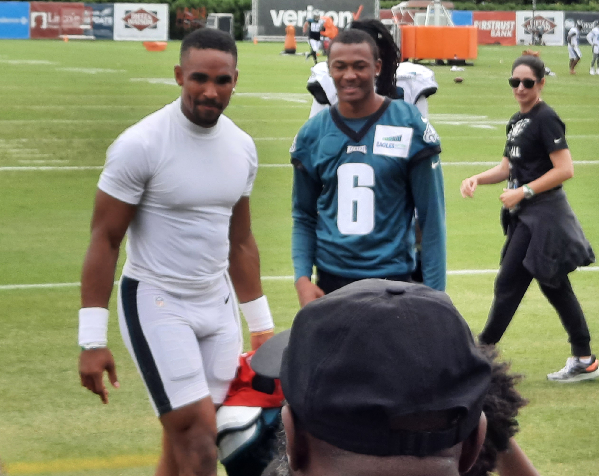 Philadelphia Eagle QB Jalen Hurts and WR DeVonta Smith