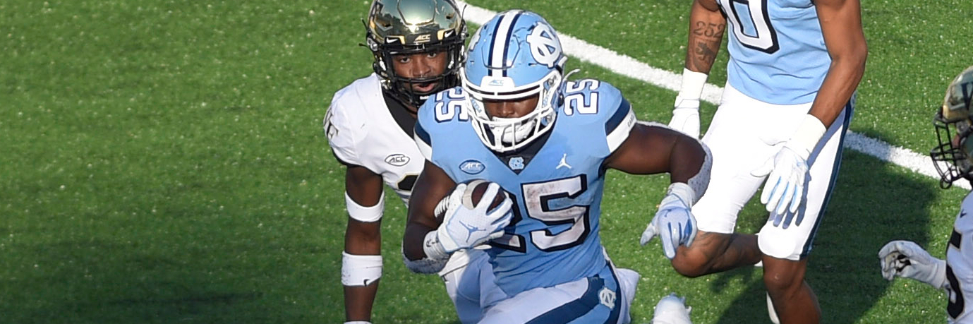 North Carolina Tar Heels RB Javonte Williams