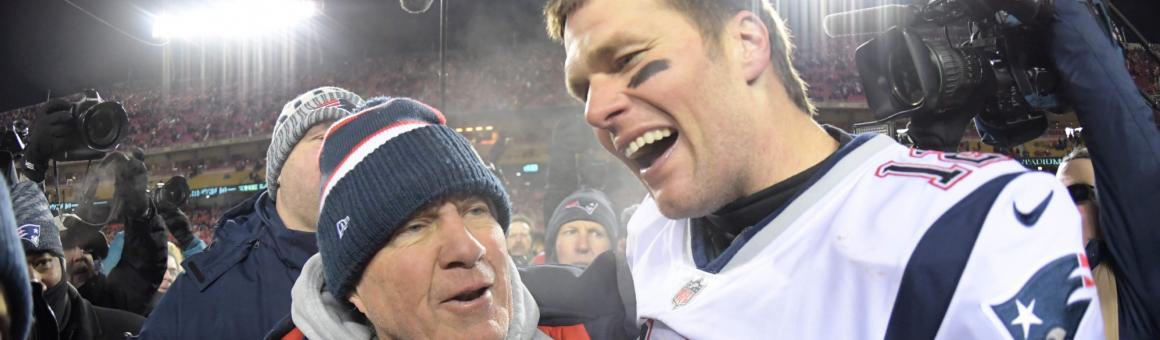 New England Patriots head coach Bill Belichick and QB Tom Brady