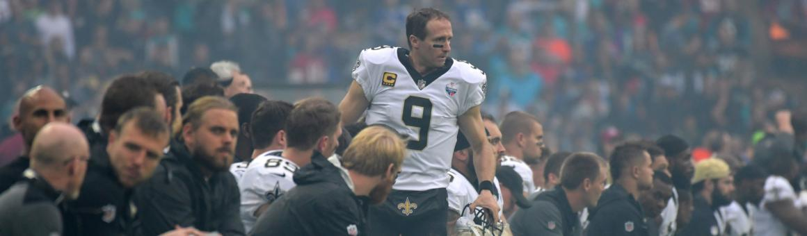 New Orleans Saints QB Drew Brees in 2017