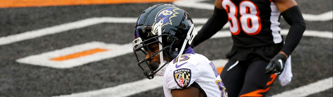 Baltimore Ravens WR Marquise Brown