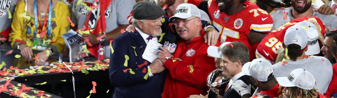 Head Coach Andy Reid and the Super Bowl Champion Kansas City Chiefs