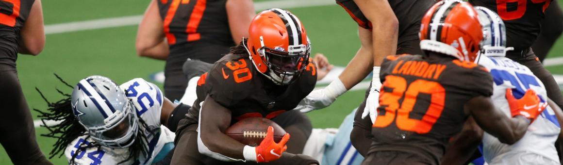 Cleveland Browns RB D'Ernest Johnson