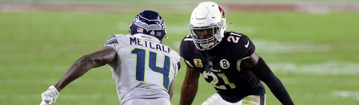 Seattle Seahawks WR DK Metcalf and Arizona Cardinals CB Patrick Peterson