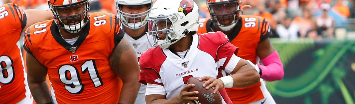 Kyler Murray under pressure