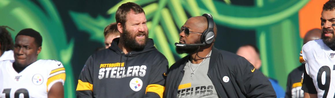 Pittsburgh Steelers QB Ben Roethlisberger and head coach Mike Tomlin