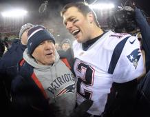 New England Patriots head coach Bill Belichick and QB Tom Brady