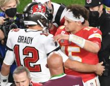 Tampa Bay Buccaneers QB Tom Brady and Kansas City Chiefs QB Patrick Mahomes