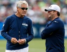 Seattle Seahawks head coach Pete Carroll and general manager John Schneider