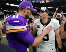 Minnesota Vikings QB Kirk Cousins and New Orleans Saints QB Drew Brees
