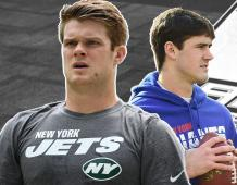 New York Jets QB Sam Darnold and New York Giants QB Daniel Jones