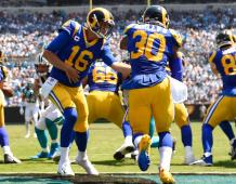 L.A. Rams QB Jared Goff and RB Todd Gurley