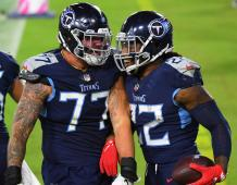 Tennessee Titans OL Taylor Lewan and RB Derrick Henry