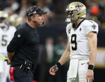 New Orleans Saints HC Sean Payton and QB Drew Brees