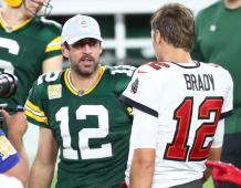 Green Bay Packers QB Aaron Rodgers & Tampa Bay Buccaneers QB Tom Brady