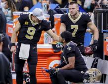 New Orleans Saints QBs Drew Brees, Jameis Winston, and Taysom Hill