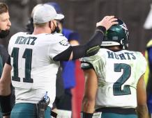 Philadelphia Eagles QBs Carson Wentz and Jalen Hurts