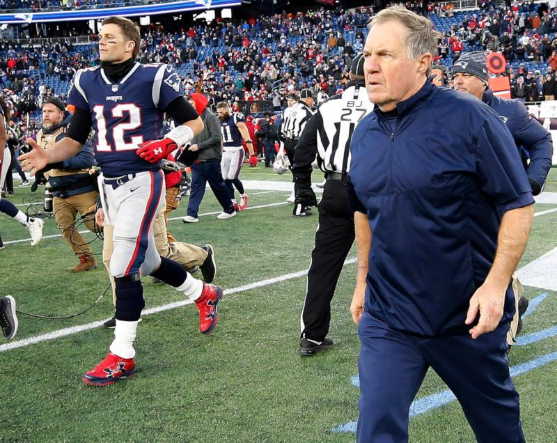 New England Patriots QB Tom Brady and HC Bill Belichick