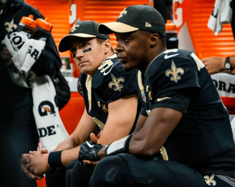 New Orleans Saints QBs Drew Brees and Teddy Bridgewater
