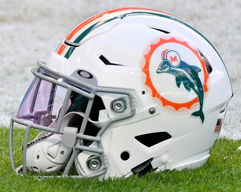 Throwback Miami Dolphins Helmet