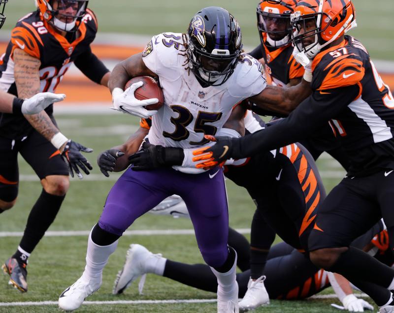 Baltimore Ravens RB Gus Edwards