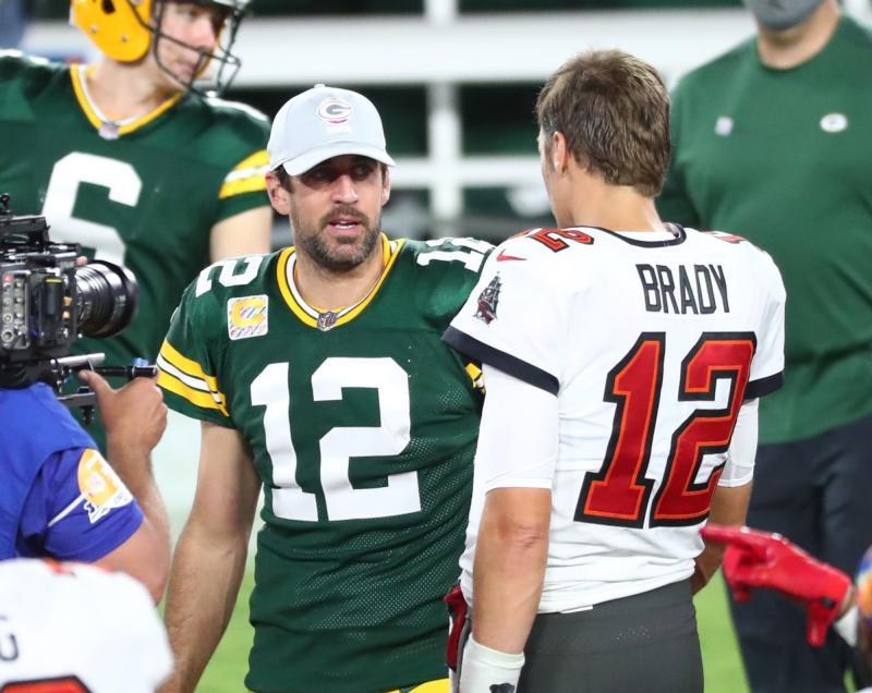 Green Bay Packers QB Aaron Rodgers & Tampa Bay Buccaneers QB Tom Brady