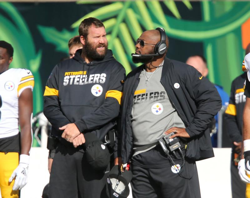 Pittsburgh Steelers QB Ben Roethlisberger and head coach Mike Tomlin