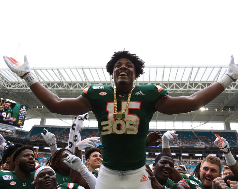Miami Hurricanes ER Gregory Rousseau