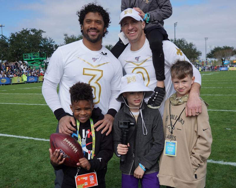 NFC Pro Bowl quarterbacks Russell Wilson and Drew Brees