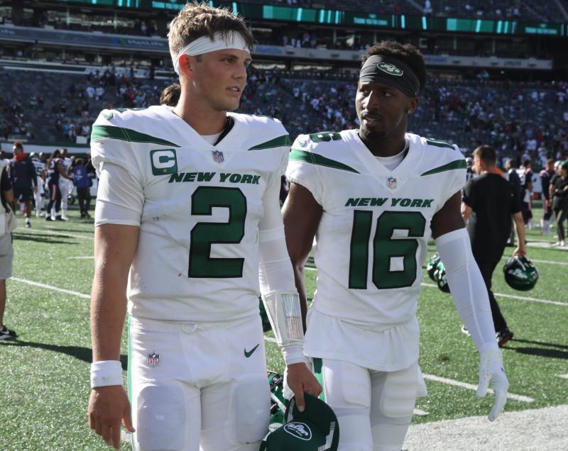 New York Jets QB Zach Wilson and WR Jeff Smith