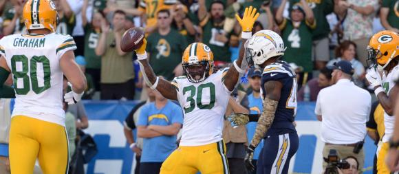 Green Bay Packers running back Jamaal Williams