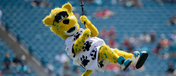 Jaxsonville Jaguars mascot Jaxson deVille
